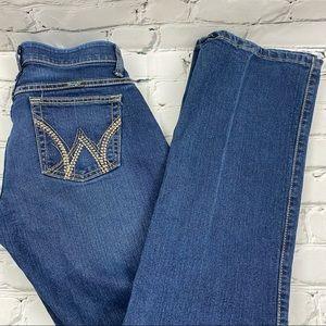 Wrangler Q-Baby no waist gap jeans straight leg